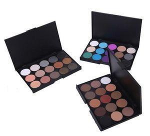 Maquillaje sombra de ojos paleta de 15 colores de sombra de ojos del pigmento Nude Brillo Mate Paletas de maquillaje sombra de ojos