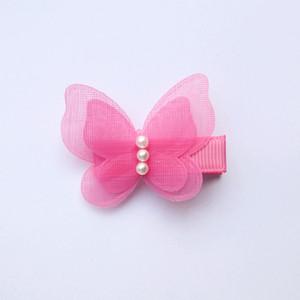 24X Tiere Form Small Size Hair Clips Schöner Schmetterling Kinder Hairpin mit Perlen Mädchen Barrettes Doppel Ebene Herbst Stil