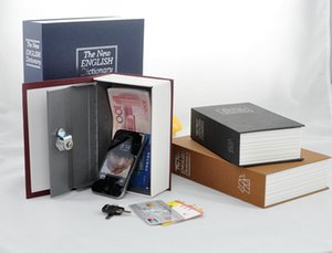 4 couleurs acier dictionnaire caché sécurité coffre-fort coffre fort livre coffre fort, 23.5 * 15.5 * 5.5cm petit magasin de monnaie monnaie magasin serrure