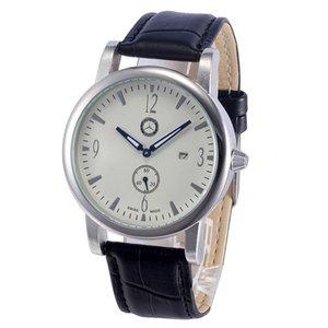 Pérdida promoción Mercedes marca relojes hombres impermeable correa de cuero fecha reloj pequeño dial puede trabajar 606