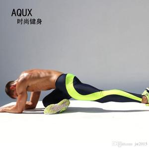 2016 Mens Compression Track Pantaloni High Stretch Mens Jogging Poliestere Running Tights Uomo Training Pantaloni Tuta Bottoms M-XL