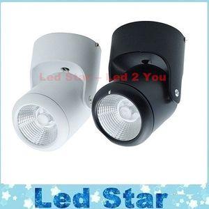 Поверхностный монтаж Led утопленный свет Downlights 10W cob dimmable led downlight 180 градусов вращения Светодиодные потолочные светильники AC 110-240 В