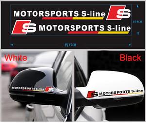 Auto spiegelabdeckung aufkleber s linie reflektierende aufkleber für audi a1 ax a5 a5 a6 a8 volkswagen VW Sagitar Jetta Magotan Auto Styling
