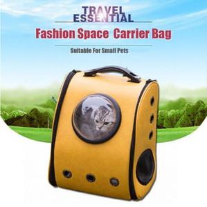 7 color Space Cabin Pet Carrier transpirable mascota Cat Carrier mochila perro portátil al aire libre paquete de bolsas de gato para mascotas Pet Travel Dog Carrier