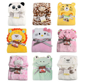 New 3D Cartoon coral fleece infant cloak baby blanket envelope stroller wrap for newborns baby bedding blanket