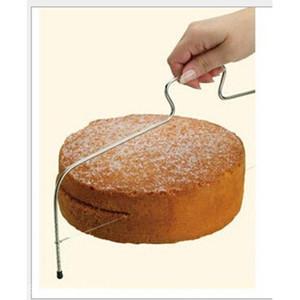 Fio Cortador de massa Inoxidável Barra De Cozinha Ferramenta Bolo Pão Slicer Nivelador De Corte # T701