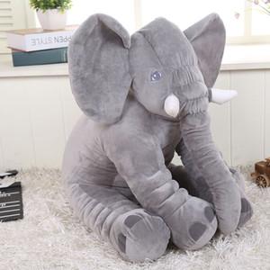 التجزئة 2017 الفيل وسادة الطفل دمية الأطفال النوم وسادة هدية عيد ins قطني وسادة الأنف الطويل الفيل دمية لينة أفخم 30 سنتيمتر