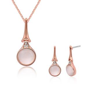 "Fashion Jewelry Necklace Earrings Set Women"" Jewelry Dance Ornaments Semi - Precious Stones Fashion Accessories Set Pretty Gift For Women"
