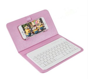 Bluetooth smart mobile cell phone keyboard connection leather cover