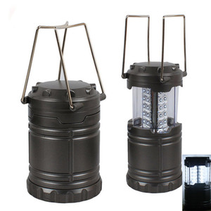 Fashion 3 Pack Portable Led Lawn Garden Lamp Path Wall Light Super Bright Outdoor Lanterns Hiking Camping Tents Light Black And Grey HH-L01