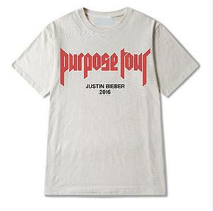 Vfiles Justin Bieber Tanrı Amaçlı Tişört Amaçlı T Gömlek Erkekler / Kadınlar My Mama Dont Gibi Mektup Baskılı Üstleri Hip Hop Streetwear