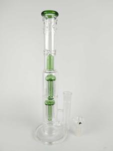 """Grace Glass Bong """"Spoiled Green / black Speranza"""" doble árbol perc bóveda percolador tubo de agua 18mm tazón tubo de agua grande 15 """""""