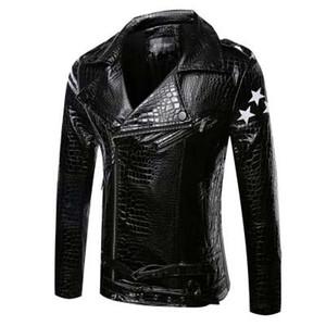 2016 Nouvelle Arrivée Printemps Haute Qualité PU Casual Veste Hommes, Collier De Down Collier Manteau d'hiver Hommes, Coat occasionnel