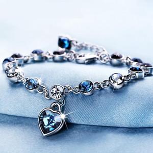 Avusturyalı kristal tam elmas shinning bilezik birthstone Swarovski Kristal takı Opsiyonel renkli Kristal Bilezik maxi statemet