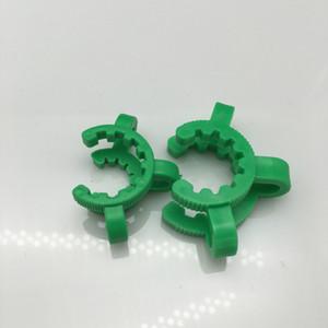 Hot 10mm 14mm 19mm En Plastique Keck Clip Laboratoire Pince Clip Pince En Plastique Verrouiller En Verre Adaptateur pour verre fumer pipes dab rig verre bong