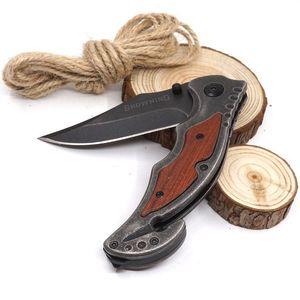 Coltello pieghevole Browning 233 Coltello tascabile di sopravvivenza Stone Wash 440C Blade Steel + Manico in legno Multitool Coltelli tattici di caccia Best Gift