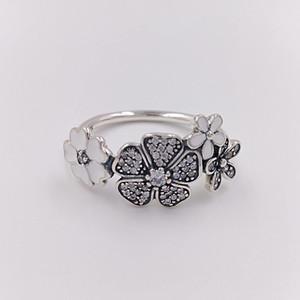 Authentic 925 sterling sterling anelli shimmering bouquet anello adatti gioielli in stile Pandora europeo 190984CZ