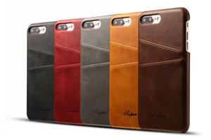 Nova moda de luxo estilo de negócios wallet phone case para iphone 7 com cartão de crédito pokect slots de couro case capa para iphone 7 plus
