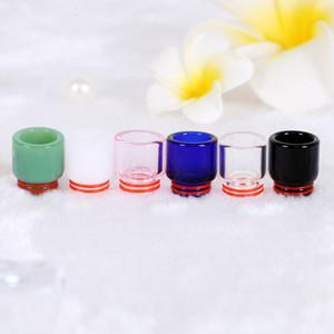 Pyrex Glass Drip Tip 810 Премиум Стеклянного Drip Tips 6 цветов Длинного Короткий рупор 810 Thread Форсунки Tank TFV8 TFV12 Аксессуары DHL