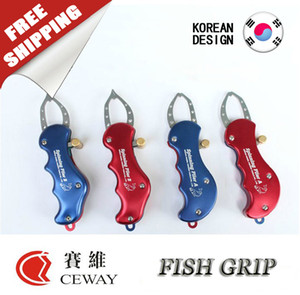 Fish Lip Grip Fishing Gripper Grasper Unhook Plier Pincer Clip Catcher Holder Controller Aparejos de pesca Spinning Plier 2017 ENVÍO GRATIS