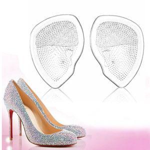 Zapatos Plantillas metatarsiano suplemento de asistencia cojín de las mujeres del gel de silicona suave del amortiguador de las plantillas de los tacones altos de silicona cojines del gel