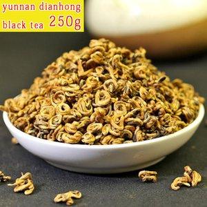 품질 좋은 중국 차 홍차 DianGong 달콤한 골드 스크류 운남 닭 DianHong deqing DianGong 250g 무료 배송