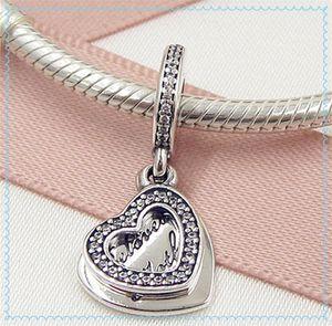 2016 fête des mères 925 en argent Sterling bien-aimée mère perle charme perle avec Cz correspond à style européen pandora bijoux bijoux collier