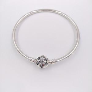 Auténticos 925 Sterling Silver momentos únicos de la plata del copo de nieve encantos de los ajustes de joyas de estilo europeo de Pandora Beads 590740CZ