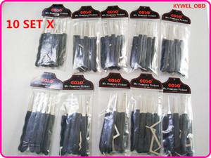 10 Takım GOSO Siyah 9 adet kanca kilit seçim gamze kilitleri için Gerginlik anahtarı ile set sıcak satış