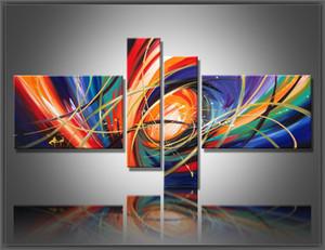 Kombination 4 panel wall art Abstrakte Gemälde Moderne Ölgemälde auf Leinwand Dekoration wohnzimmer bilder handgemaltes Ölgemälde