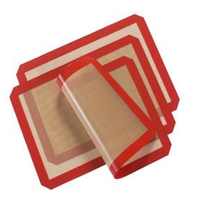 3 Pz / lotto 40X 30 Cm Silicone Antiaderente Baking Mat Resistente Al Calore In Fibra di Vetro Pasta Foglio di Rotolamento Pad Per Torta Cookie Utensili Da Cucina