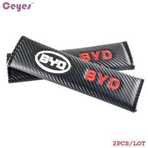 탄소 섬유 자동 안전 벨트 커버 BYD F3 F0 S6 F3R BN-02 G3 L3 S7 안전 벨트 커버 자동차 스타일링 2pcs / lot