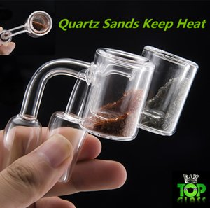 Quartz Thermal Banger with Quartz sands nice color keep heat well 10mm 14mm 18mm Double Tube Quartz Thermal Banger