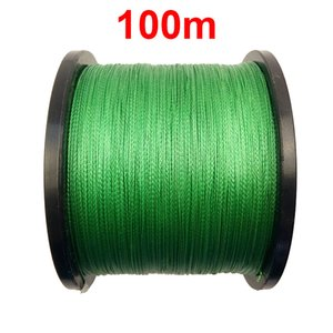 1PC 100m 110 Yards 100% PE Braided Fishing Line Green 4 Strands Braid Multifilament Super Strong Fishing Lines 10LB-45LB