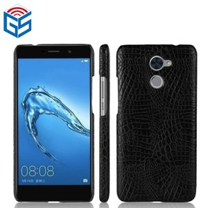 Luxury Crocodile Grain PU Leather Phone Shell For Huawei Y7 Prime Accesories Cellphones Case Back Cover