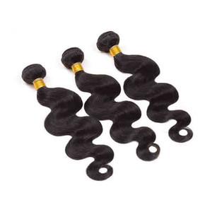 Capelli brasiliani dell'onda del corpo dei capelli dei capelli 7A fasci remy malesi dei capelli di colore naturale Grandi fornitori cinesi di qualità Dritti vergini