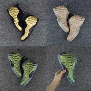Nuevo color Pro Penny Hardaway zapatos de baloncesto de color verde Vachetta Tan Athletic zapatos deportivos zapatillas zapatillas olímpicas