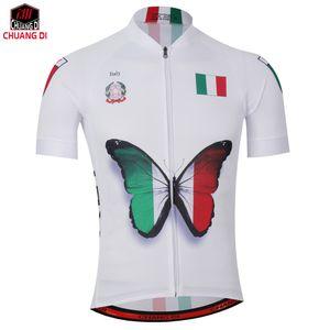 Yeni Erkek Bisiklet Forması Rahat Bisiklet / Bisiklet Gömlek İtalyan bayrağı logosu Alien SporBisiklet cycleclothing Boyut