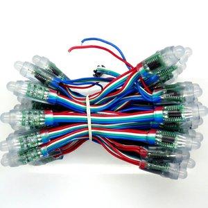 5v 12мм RGB LED модуль lpd6803 адресуемого привело модуль пикселя свет 50pixels / струна круглой формы Водонепроницаемого IP68 полноцветный лайтбокса подсветки