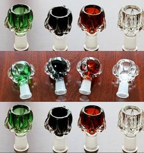 красочные стеклянные шары цвета Доступные Пьянящий в миску ctock курения для стекла затяжками водопроводов женщина чаша 14,4 / 18.8mm Курительные принадлежности