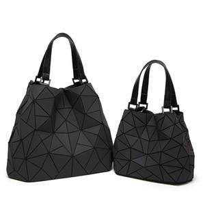 BaoBao Kordelzug Frauen Leuchtdreieck Sac Baobao Tasche Diamant Tote Geometrie Gesteppte Schultertasche Laser Plain Folding Handtaschen Bolso