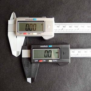 150mm 6inch LCD numérique carbone électronique fibre Vernier Caliper Calibre micrométrique Caliper boîte en plastique détail couleur argent noir