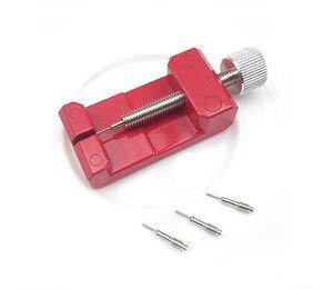 Herramienta de banda de reloj de metal ajustable Pulsera Correa Herramienta de reparación de removedor de eslabones 3 Pines Herramientas de reparación de relojes Kits