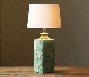 Modern Art Deco LED Masa Lambaları Seramik Lamba Tutucu Pamuk Lamba Gölge Ev Otel Odası Dekor Masa Lambaları