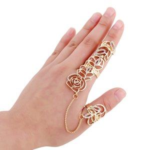 Conjunto de moda del taladro del anillo adornan el artículo brillante de la manera ahueca hacia fuera perforar las flores suena los anillos bonitos para mujer del estilo europeo y EE.UU.