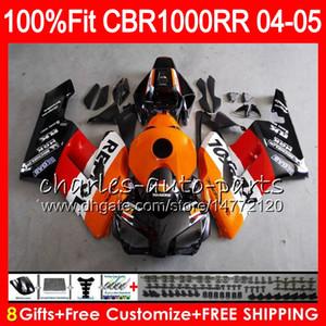 Кузов впрыска для HONDA CBR1000 RR CBR 1000RR 04 05 Repsol оранжевый 9NO83 100% Fit CBR1000RR 04 05 Кузов CBR 1000 RR 2004 2005 Обтекатель