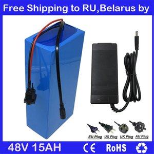 Бесплатная доставка в беларусь RU 48 В 15AH электрический велосипед литий-ионный аккумулятор 48 В велосипед аккумулятор с ПВХ чехол 20А BMS 54.6 В 2A зарядное устройство