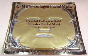 Nuevo 24pcs / lot Máscara facial del colágeno Cristal del polvo del oro Máscaras faciales del colágeno Máscara del ojo del colágeno17 pcs + 5pcs Mascarilla + 2pcs Máscara de nariz