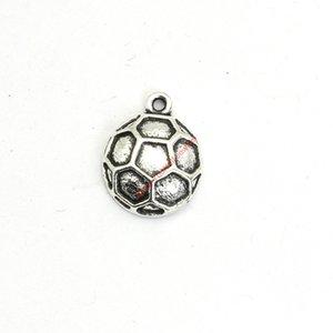 30pcs Antique Silver Plated футбола Подвески Подвески для браслета Изготовление ювелирных изделий DIY ожерелье Craft 17X13mm