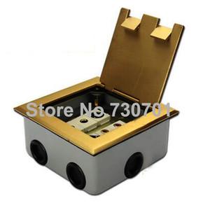 Macchia acciaio VGA, alimentazione universale, TEL, zoccolo per pavimento dati argento dorato colore rame alluminio materiale spedizione goccia